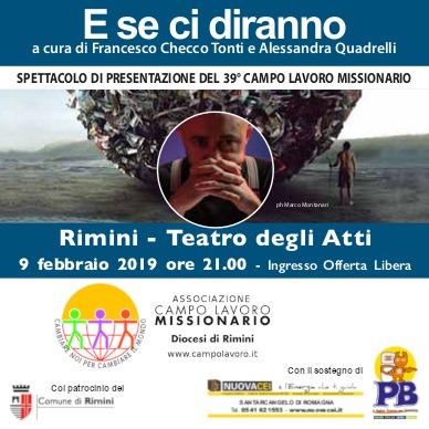 SPETTACOLO DI PRESENTAZIONE DEL 39° CAMPO LAVORO MISSIONARIO