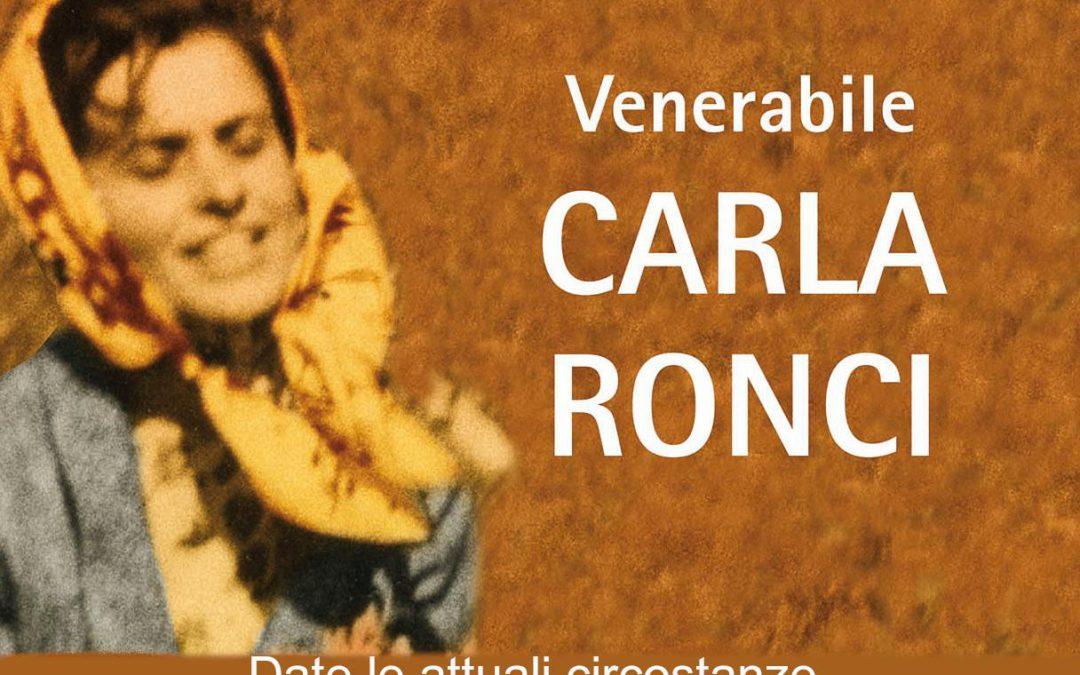 In Tv la messa del Vescovo per la venerabile Carla Ronci